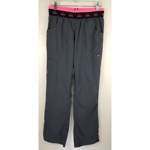 Koi Gray Scrub Pants Adjustable Sz S
